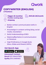 Job Opening-Qwork Copywriter (English)