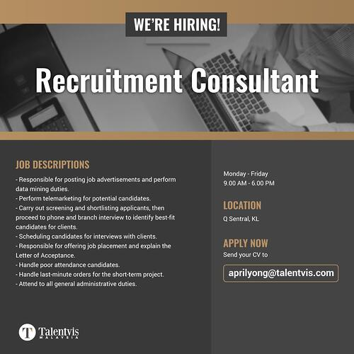 Job Opening-Talentvis Recruitment Malaysia