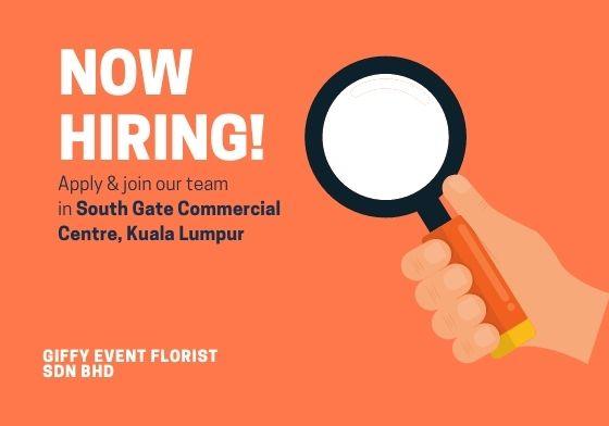 Job Opening-Giffy Event Florist Sdn Bhd